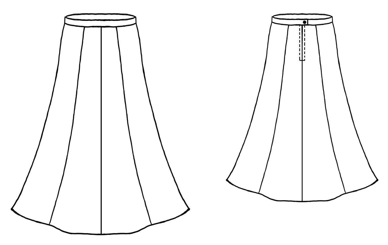 Картинки эскизы юбки