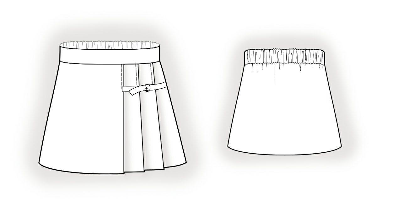 Рисунки юбок для начинающих