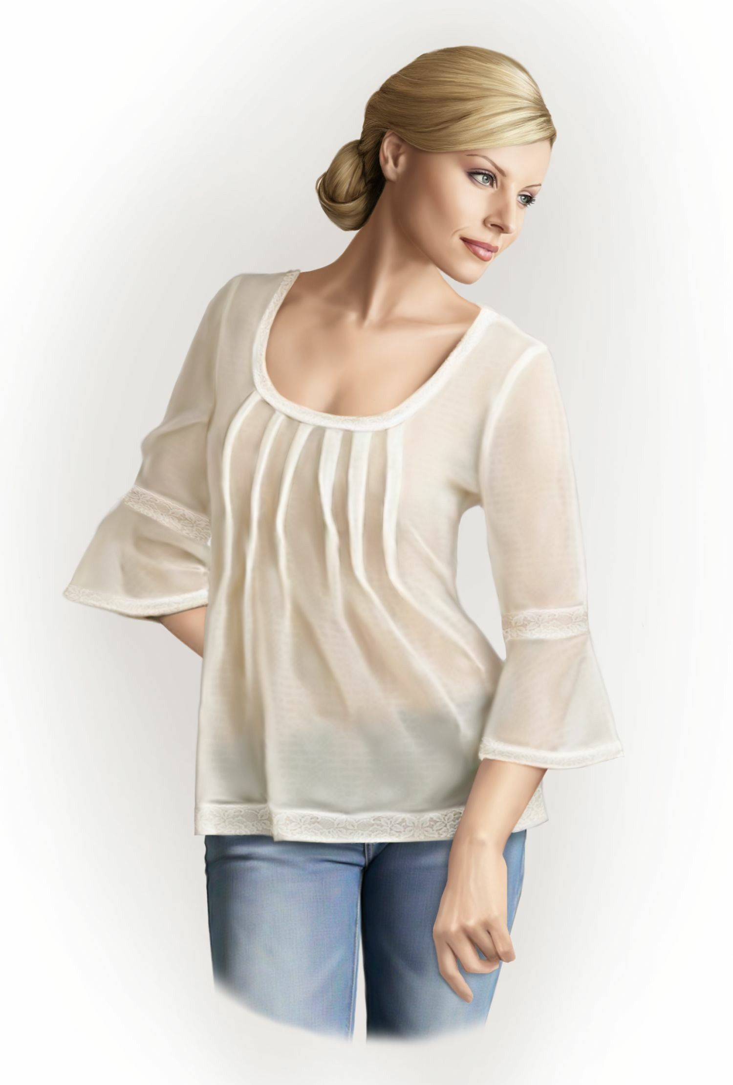 Blouse With Tucks Sewing Pattern 5764 Made To Measure Sewing
