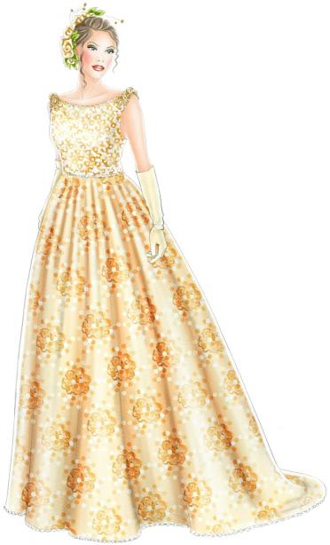 Wedding Dress - Sewing Pattern #5212. Made-to-measure sewing pattern ...
