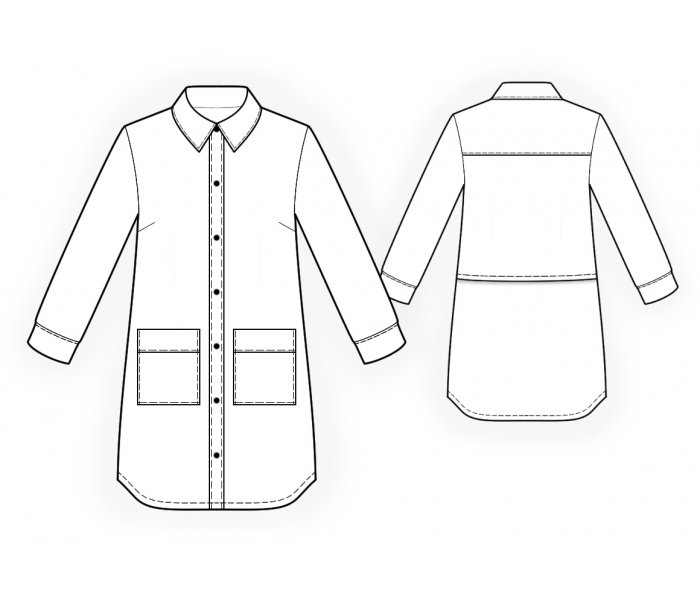 Shirt Sewing Pattern 4725 Made To Measure Sewing Pattern From