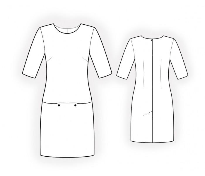 прямое платье фото без вытачек выкройка горами садик